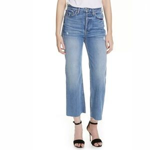 NWOT GRLFRND High Rise Bobbi Raw Hem Cropped Jeans